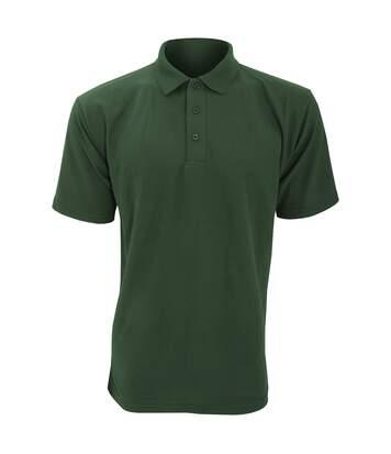 UCC 50/50 Mens Plain Piqué Short Sleeve Polo Shirt (Bottle Green) - UTBC1194