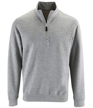 Sweat-shirt col camionneur - 02088 - gris chiné