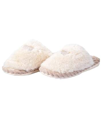 Pantoufles COCOONING pour Femme Confort PREMIUM 2083 Ecru