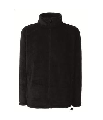 Fruit Of The Loom Mens Full Zip Outdoor Fleece / Top (Black) - UTBC372