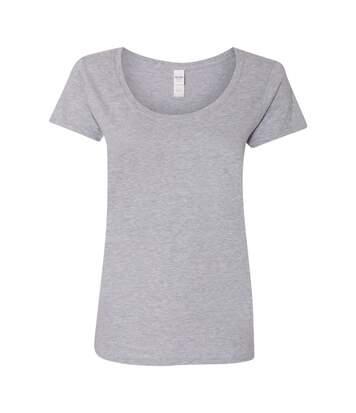 Gildan - T-Shirt À Col Rond - Femme (Gris sport) - UTBC3717
