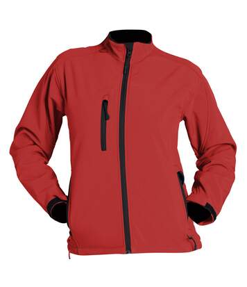 SOLS Womens/Ladies Roxy Soft Shell Jacket (Breathable, Windproof And Water Resistant) (Red) - UTPC348