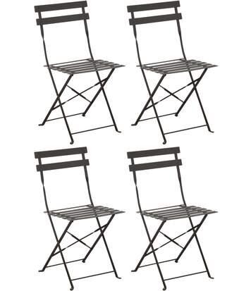 Chaises pliantes en acier Cuba (Lot de 4)