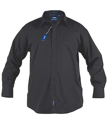 Duke Mens Corbin Kingsize Long Sleeve Classic Regular Shirt (Black) - UTDC199