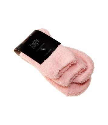 Chaussette Niveau mollet - 1 paire - Sans couture - Sans bouclette - Chaude - Rose