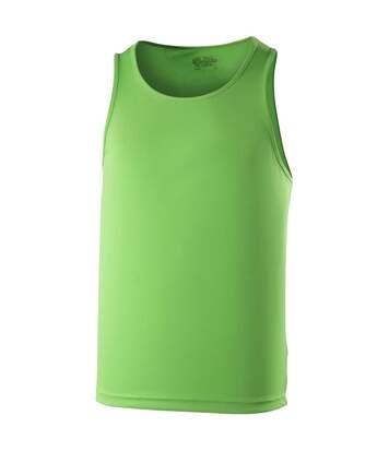 Just Cool Mens Sports Gym Plain Tank / Vest Top (Electric Orange) - UTRW687