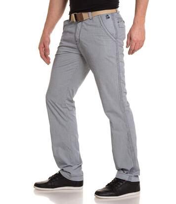 Pantalon Homme Bleu Chino
