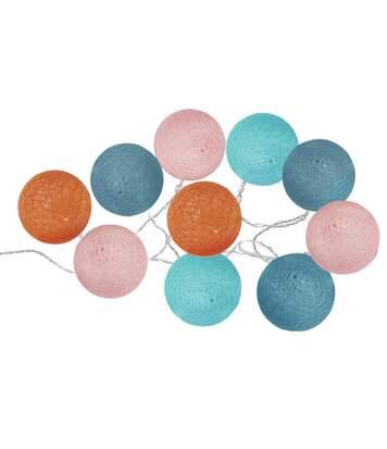 Atmosphera - Guirlande lumineuse 10 boules LED D 6 cm Jungle pop