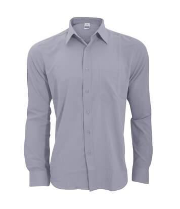 Henbury Mens Wicking Long Sleeve Work Shirt (Slate Grey) - UTRW2696