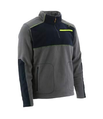 CAT Argo Veste en Polyester Polaire Zippée Sweatshirt Pull Homme