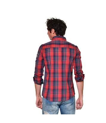 Chemise manches longues à carreaux homme Jack