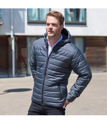 Result Core Mens Soft Padded Jacket (Black/Orange) - UTRW5947