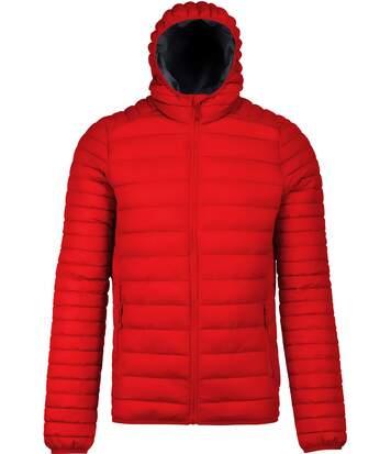 Doudoune légère à capuche - K6110 - rouge - Homme