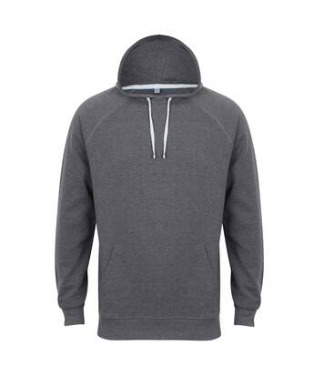 Front Row Mens Slim Fit French Terry Hoodie (Charcoal Marl) - UTRW5394