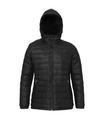 2786 Womens/Ladies Hooded Water & Wind Resistant Padded Jacket (Royal/Grey) - UTRW3425