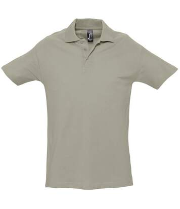 SOLS Mens Spring II Short Sleeve Heavyweight Polo Shirt (Khaki) - UTPC320