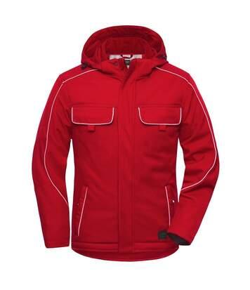 Veste blouson de travail rembourrée softshell - JN886 - rouge