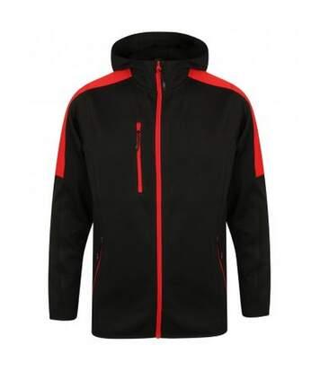 Finden & Hales Mens Active Soft Shell Jacket (Black/Red) - UTPC3079