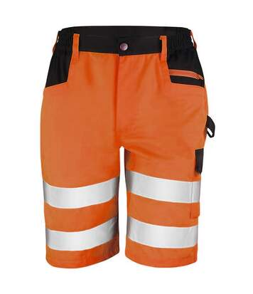 Result Core Mens Reflective Safety Cargo Shorts (Orange) - UTRW5584