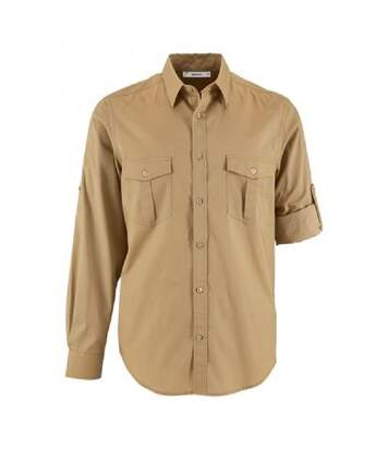 SOLS Mens Burma Roll Sleeve Poplin Shirt (Chestnut) - UTPC3238