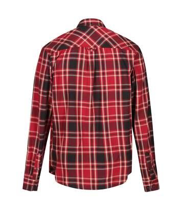 Regatta Great Outdoors Mens Lazare Long Sleeve Checked Shirt (Delhi Red) - UTRG4716