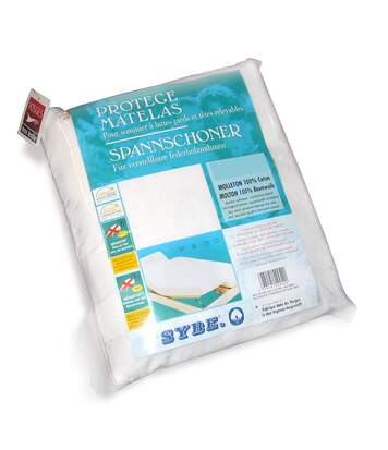 Protège matelas absorbant Antonin blanc 2x100x200 Spécial lit articulé TPR