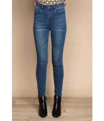 Jean slim taille haute LENNY Blue Denim
