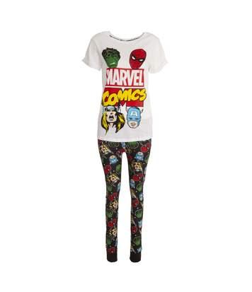Marvel Womens/Ladies Avengers Pyjama Set (White/Black) - UTUT197