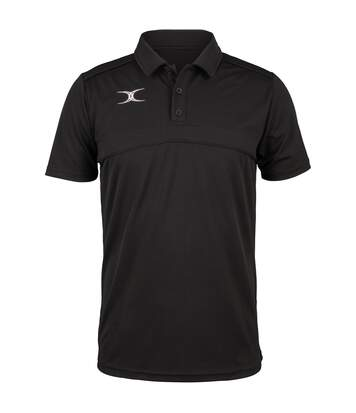 Polo de rugby manches courtes homme - GI017 - noir