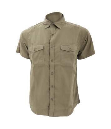 Craghoppers Mens Kiwi Short Sleeve Casual Shirt (Pebble) - UTRW343