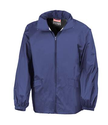 Result Mens Lightweight Windcheater in a Bag Showerproof Windproof Jacket (Concealed Hood) (Navy Blue) - UTBC938
