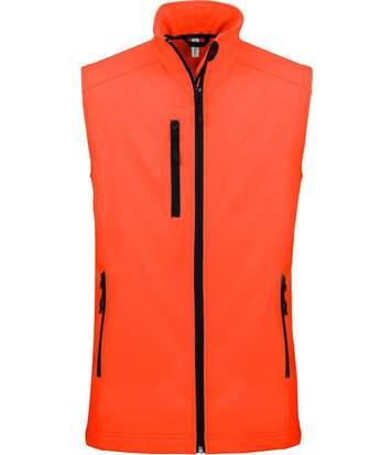 Bodywarmer softshell - gilet sans manches - K404 - orange fluo - Femme
