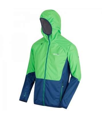 Regatta Mens Tarvos Hooded Jacket (Yellow Green/Distant Blue) - UTRG3666