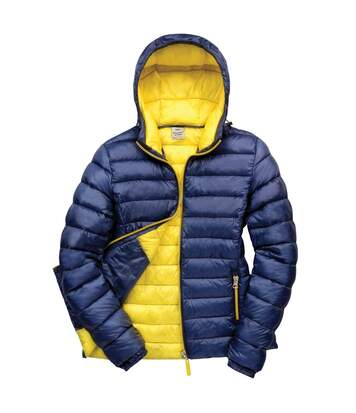 Result Urban Womens/Ladies Snowbird Hooded Jacket (Navy/Yellow) - UTBC3254