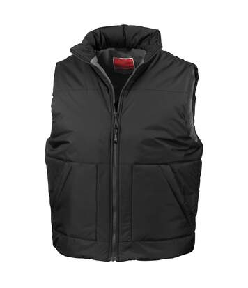 Result Fleece Lined Bodywarmer Water Repellent Windproof Jacket (Black) - UTBC926