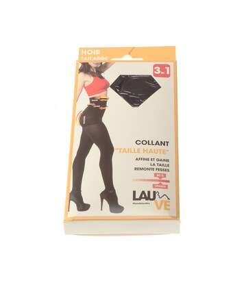 Collant chaud - 1 paire - Unis maille jersey - Ultra opaque - Mat - Gousset polyamide - Ventre plat - Noir