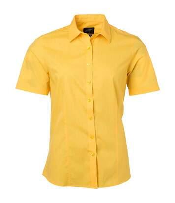 chemise popeline manches courtes - JN679 - femme - jaune