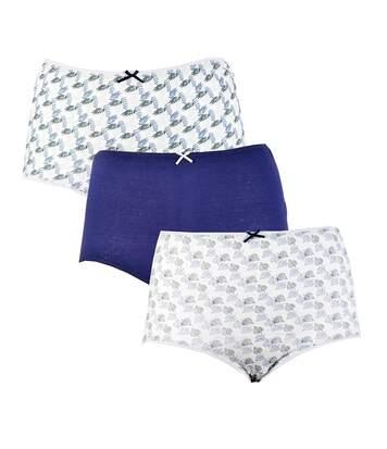 Culottes pour femme TWINDAY Confort et Qualité Pack de 3 Culottes Maxi 23167