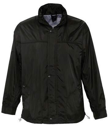 Veste coupe-vent imperméable doublé jersey - 46000 - noir - mixte homme femme