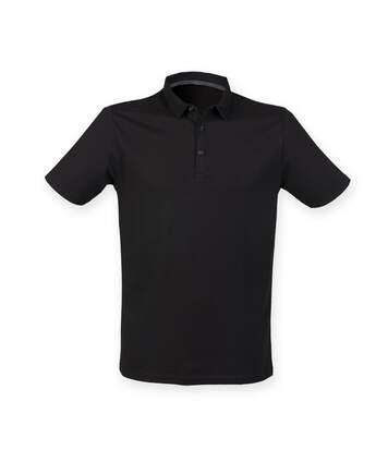 Skinnifit Mens Fashion Short Sleeve Polo Shirt (Black) - UTRW4744