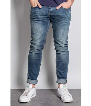 Jeans slim effet délavé NESTOR Stone Used
