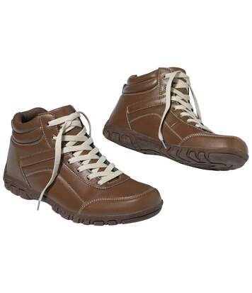 Men's Brown Lace-Up Shoes