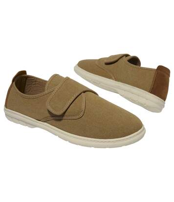 Men's Brown Canvas Moccasins