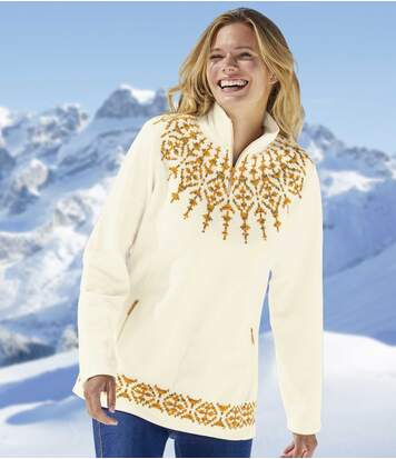 Pull Micropolaire Motifs Jacquard