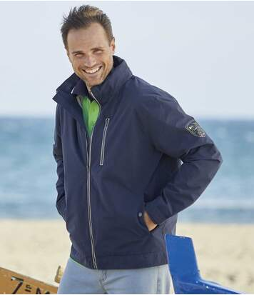 Men's Navy Canvas Windbreaker