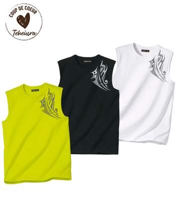 Lot de 3 Tee-Shirts Sans Manches Bora Bora