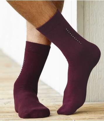 Set van 4 paar sokken met jacquardmotief