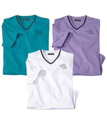 Lot de 3 Tee-Shirts Col V Los Palmas