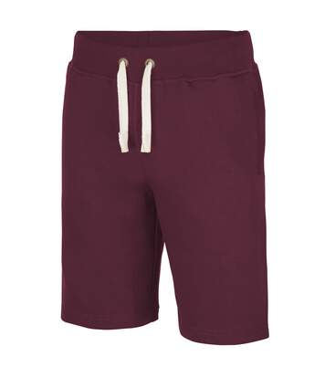 AWDis Hoods Plain Heavyweight Campus Shorts (Burgundy) - UTRW2549