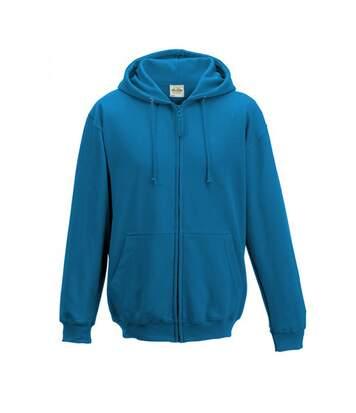 Awdis Plain Mens Hooded Full Zip Hoodie / Zoodie (Royal Blue) - UTRW180